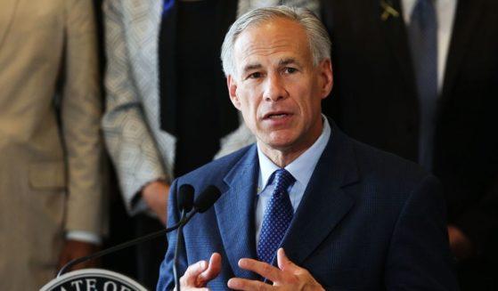 Texas Gov. Greg Abbott speaks at Dallas City Hall on July 8, 2016.