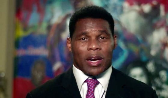 In this screenshot from the RNC's livestream of the 2020 Republican National Convention, former NFL athlete Herschel Walker addresses the virtual convention on Aug. 24, 2020.