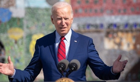President Joe Biden speaks about coronavirus protections in schools during a visit to Brookland Middle School in Washington, D.C, Sept. 10.