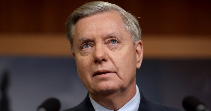 Republican Sen. Lindsey Graham of South Carolina speaks during a news conference at the U.S. Capitol in Washington on Dec. 20, 2018.