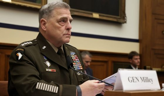Chairman of the Joint Chiefs of Staff Gen. Mark Milley testifies during a hearing before the House Committee on Armed Services at Rayburn House Office Building on June 23, 2021, on Capitol Hill in Washington, D.C.