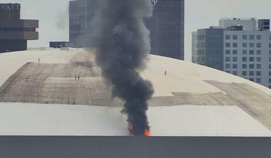 Fire at New Orleans Superdome, Sept. 21.