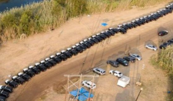 The state Department of Public Safety and the National Guard used hundreds of state-owned vehicles -- most of them apparently SUVs -- to create a barrier to help stop the surge of illegal immigrants into Texas.