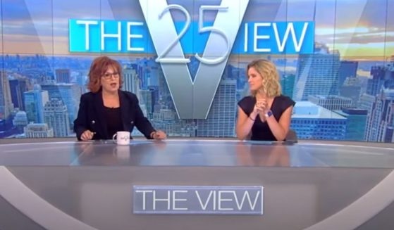 """""""The View"""" hosts Joy Behar and host Sara Haines scramble to explain the situation Friday morning."""