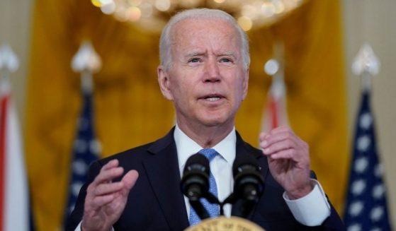 President Joe Biden is seen speaking Wednesday, Sept. 15, 2021, at the White House.