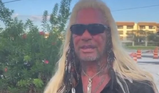 Duane Chapman, known as Dog the Bounty Hunter, is pictured in a Fox News interview broadcast Monday.