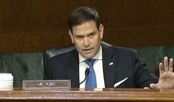 Florida Sen. Marco Rubio addresses Secretary of State Antony Blinken during a Senate Foreign Relations Committee hearing on Tuesday.