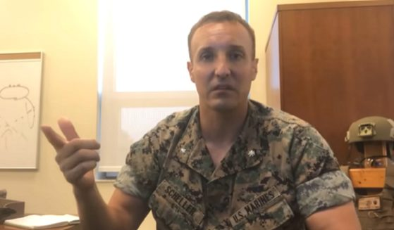 Marine Lt. Col. Stuart Scheller, pictured in an August video that blasted the botched withdrawal from Afghanistan.
