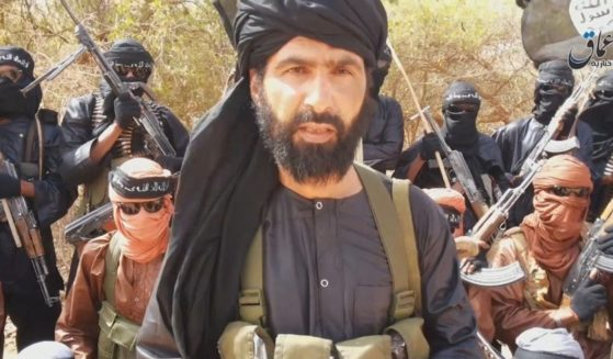 Adnan Abu Walid al Sahraoui, the leader of the Islamic State in the Greater Sahara, who was killed in August by French security forces.