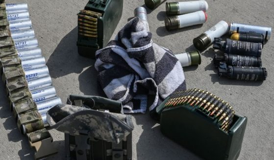Ammunition is pictured lying on the ground at the airport in Kabul, Afghanistan, on Aug. 31, 2021, after the U.S. had pulled all its troops out of the country.