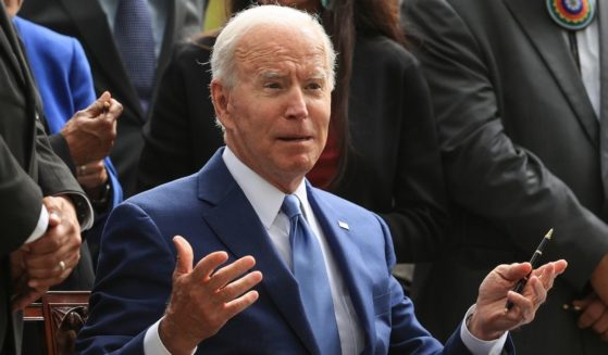 President Joe Biden, seen at a White House event Friday, fared poorly among republicans and independents during recent polling, indicating a rough road ahead for democrats in upcoming elections.