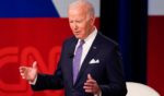 President Joe Biden often appeared unsure what to do with his hands during Thursday's televised town hall program.