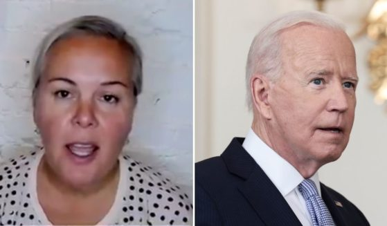 Natalya Murakhver, left, went on Fox News on Thursday to discuss her concerns about President Joe Biden's leadership after voting for him in the 2020 election.