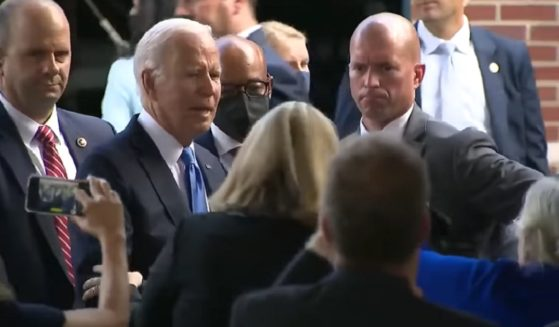 President Joe Biden shows evident distress after realizing he'd forgotten a mask during an appearance in Connecticut on Friday.