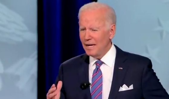 Joe Biden struggles to answer a question regarding skyrocketing fuel prices during Thursday's televised town hall program.