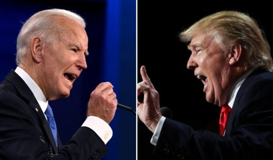 A new poll has found that a large number of voters for both President Joe Biden, left, and former President Donald Trump are in favor of secession.
