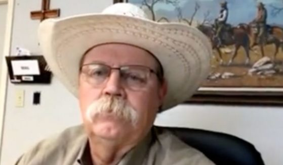 Sheriff Brad Coe of Kinney County, Texas, speaks during an interview with 100 Percent FED Up on Monday.