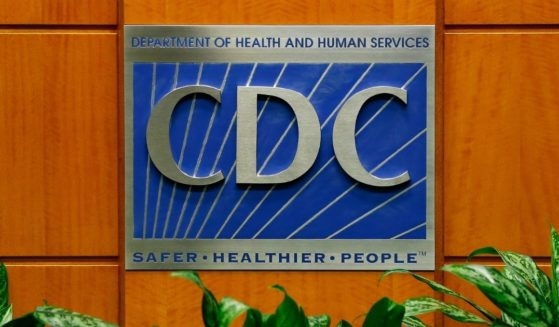 A podium with the logo for the Centers for Disease Control and Prevention is seen at the Tom Harkin Global Communications Center on Oct. 5, 2014, in Atlanta.