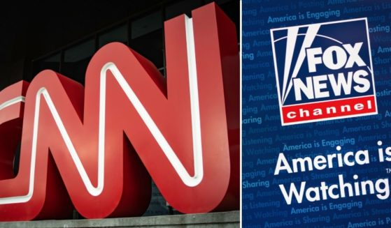 The CNN and Fox News logos are seen in this combined stock image.
