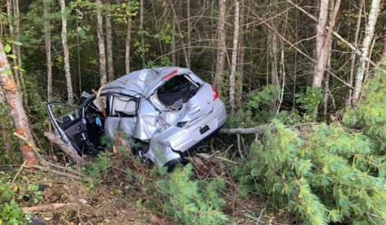 A mother was seriously injured when her car crashed in Lakeville, Massachusetts, but a good Samaritan pulled over to care for her daughter.