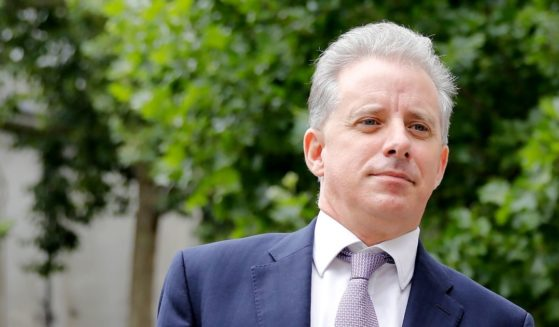 Former U.K. intelligence officer Christopher Steele arrives at the High Court in London on July 24, 2020, to attend his defamation trial brought by Russian tech entrepreneur Alexsej Gubarev.