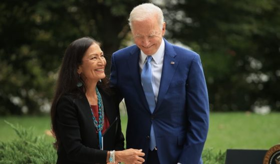 President Joe Biden and Secretary of the Interior Deb Haaland announce the expansion of three national monuments at the White House on Friday in Washington, D.C.