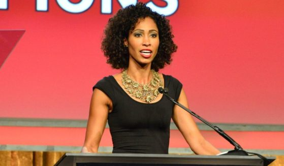 ESPN's Sage Steele hosts the CoachArt Gala Of Champions at The Beverly Hilton Hotel on Oct. 16, 2014, in Beverly Hills, California.