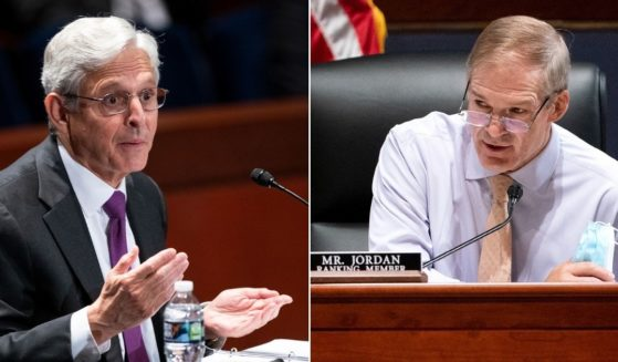 Attorney General Merrick Garland, left, was questioned by Republican Rep. Jim Jordan of Ohio during a House Judiciary Committee hearing at the U.S. Capitol in Washington on Thursday.