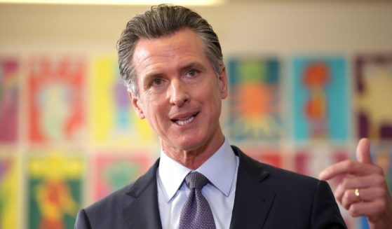 California Gov. Gavin Newsom speaks during a news conference at James Denman Middle School on Oct. 1 in San Francisco, California.