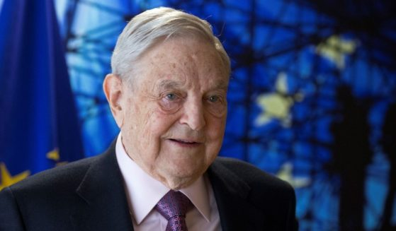 George Soros, founder and chairman of Open Society Foundations, arrives for a meeting in Brussels on April 27, 2017.