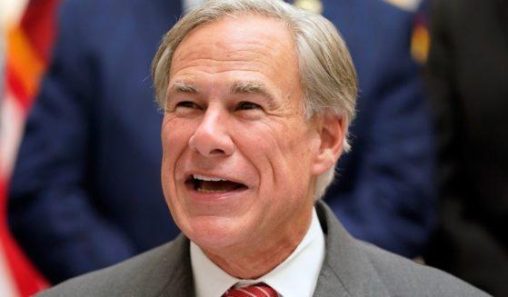 Gov. Greg Abbott speaks before a bill signing in Tyler, Texas, on Sept. 7.
