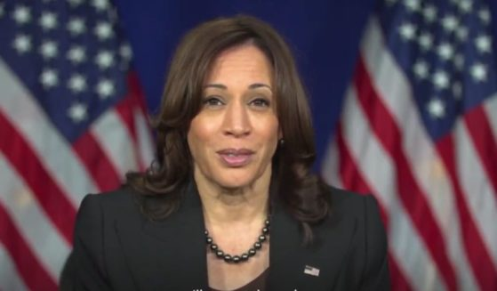Vice President Kamala Harris praises Virginia gubernatorial candidate Terry McAuliffe on a video produced to be played at Sunday-morning church services, an apparent violation of federal law.