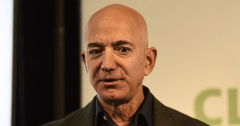 Amazon founder Jeff Bezos speaks to the media on the company's sustainability efforts on Sept. 19, 2019, in Washington, D.C.