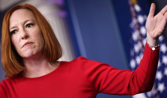 White House press secretary Jen Psaki speaks during a news briefing at the White House on Tuesday in Washington, D.C.