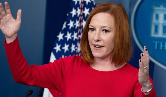 Jen Psaki, the White House press secretary, gives a briefing from the White House on Tuesday.
