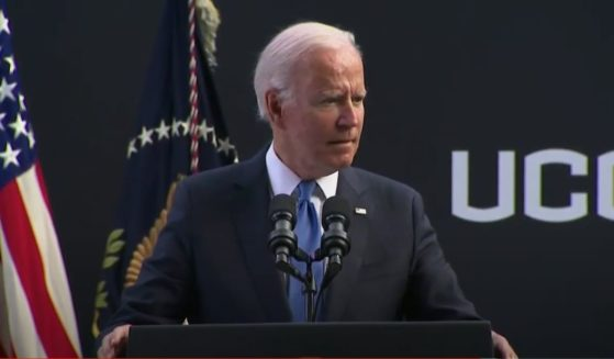 President Joe Biden delivered a speech at the University of Connecticut on Friday.