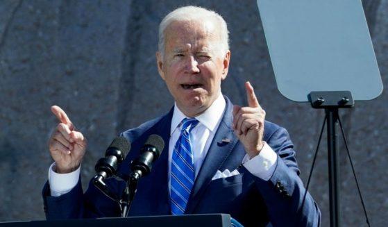 President Joe Biden delivers a speech at the Martin Luther King, Jr. Memorial in Washington, D.C., on Thursday.