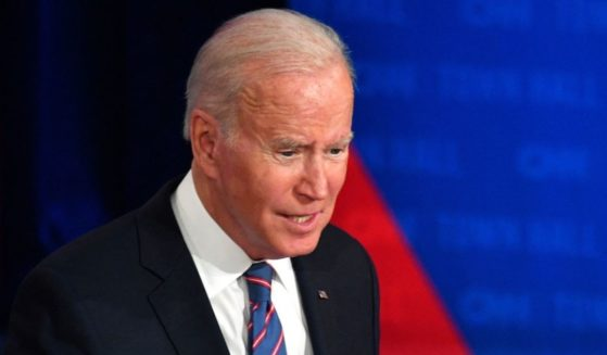 President Joe Biden participates in a CNN town hall at Center Stage in Baltimore on Thursday.