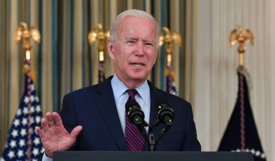 President Joe Biden delivers remarks on the debt ceiling from the State Dining Room of the White House on Monday.