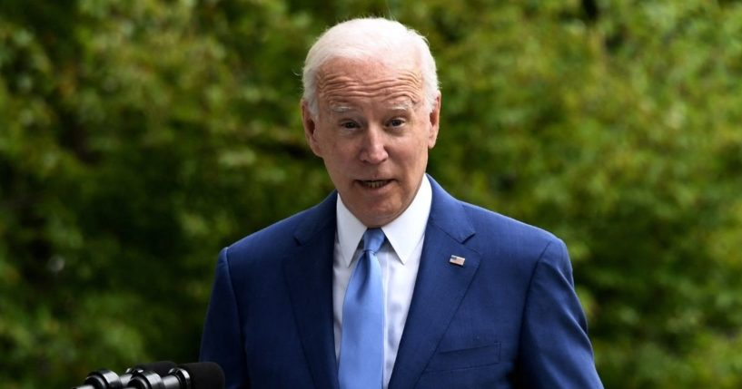 President Joe Biden speaks after signing three proclamations at the White House in Washington, D.C., on Friday.