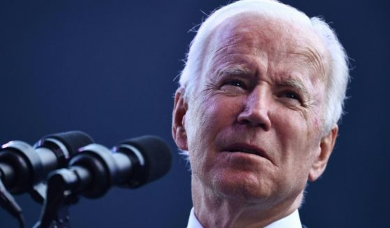President Joe Biden speaks at the dedication of the Dodd Center for Human Rights at the University of Connecticut on Friday in Storrs, Connecticut.