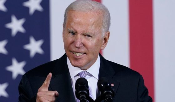 President Joe Biden speaks about the infrastructure plan in Scranton, Pennsylvania, on Wednesday.