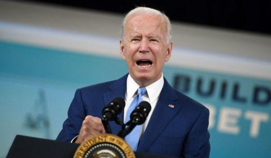 President Joe Biden speaks from the White House in Washington, D.C., on Friday.