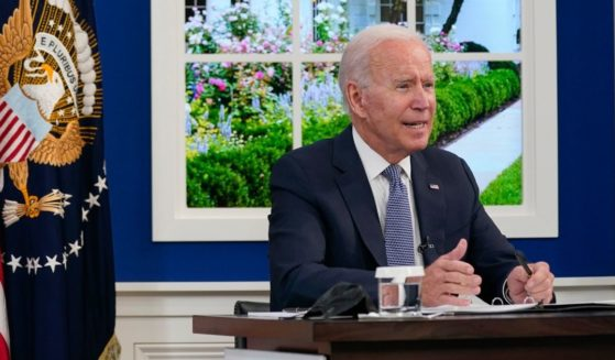 President Joe Biden speaks during a meeting with business leaders about the debt limit in the South Court Auditorium on the White House campus on Oct. 6 in Washington.