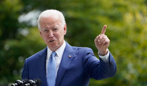 President Joe Biden gives a speech on the lawn of the White House on Friday.