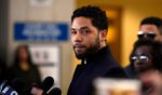 Actor Jussie Smollett, seen in a file photo from a previous court appearance in March 2019, lost a motion Friday to dismiss the case, meaning the case is expected to move forward to trial.