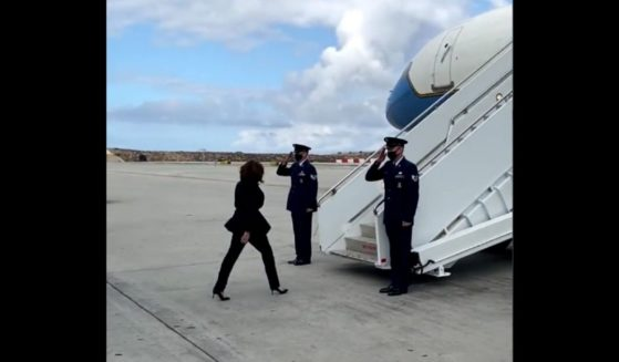 Vice President Kamala Harris took an SUV and a private jet to Nevada to discuss how to save the planet on Monday.