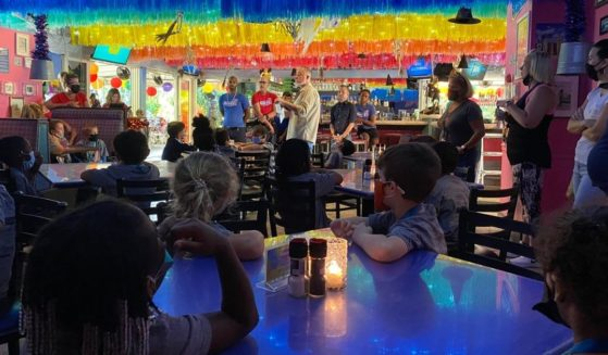 Schoolchildren from Wilton Manors Elementary School in Broward County, Florida, visited a gay bar on a field trip.