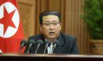 North Korean leader Kim Jong-un talks during a meeting of parliament in Pyongyang, North Korea, on Sept. 29.