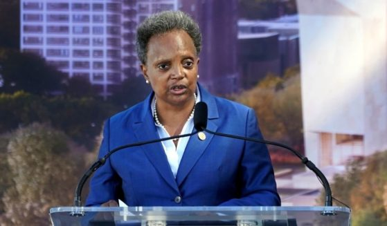 Democratic mayor of Chicago, Lori Lightfoot, gives a speech at the groundbreaking ceremony for the Obama Presidential Center on Sept. 28, 2021.